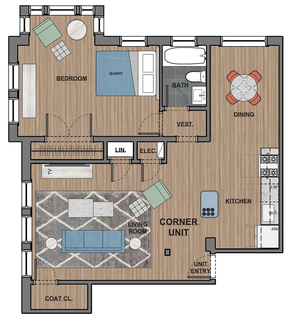 6300 Corner Apartment
