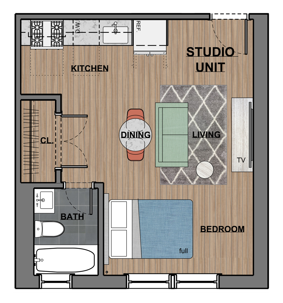 Studio 1 Bedroom Apartments: Studio & One Bedroom Apartments